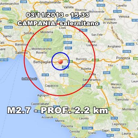 Terremoto Campania Oggi : scossa avvertita nel salernitano