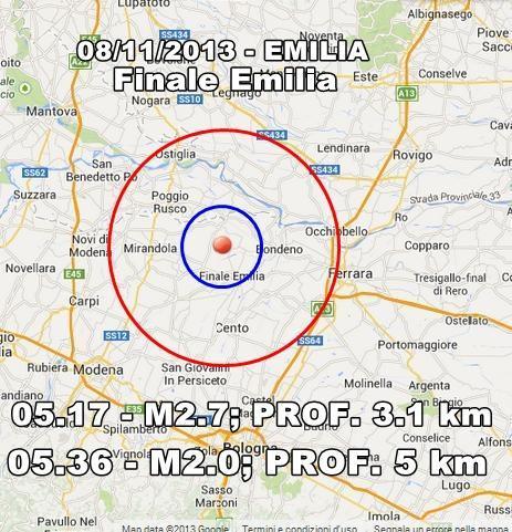 Terremoto Emilia Romagna Oggi : scosse avvertite a Finale Emilia