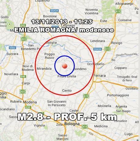 Terremoto Emilia Romagna Oggi : scossa avvertita in mattinata