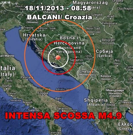 Terremoto Croazia Oggi : scossa intensa in mattinata