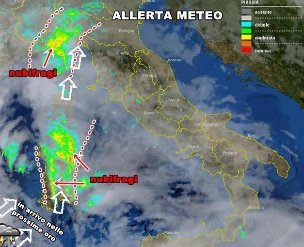 Nubifragi in atto in Sardegna, forte peggioramento nelle prossime ore