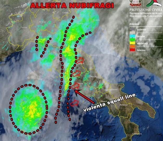 Squall Line sta attraversando l'Italia