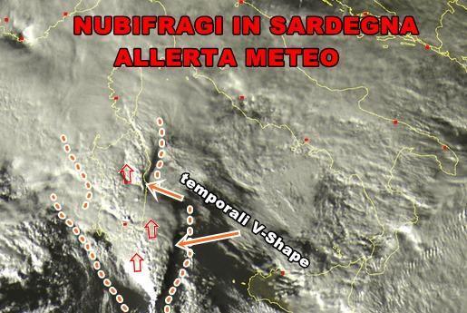 Allerta Meteo sulla Sardegna