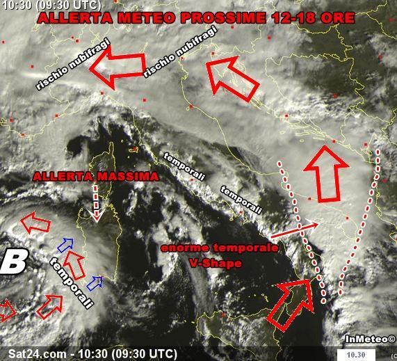Allerta Meteo : nuovo rischio nubifragi in Sardegna