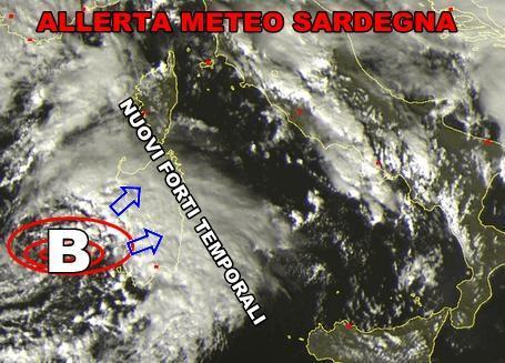 Allerta Meteo Sardegna : forti temporali in atto, situazione pericolosa