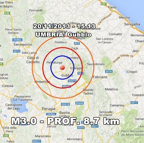Terremoto Umbria Oggi : scossa avvertita nettamente a Gubbio