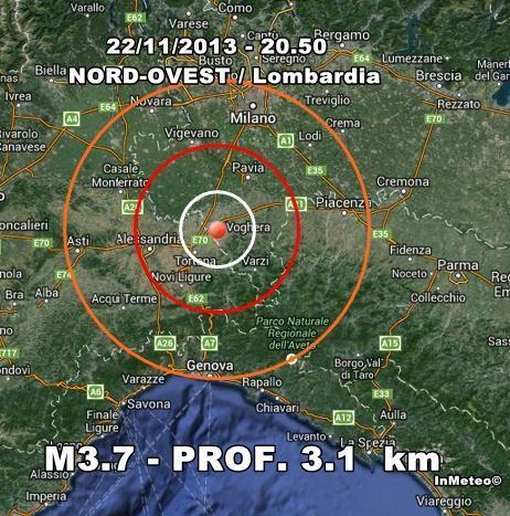 Terremoto Lombardia Oggi : scossa nettamente avvertita nel pavese