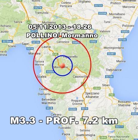 Terremoto Pollino Oggi : scossa moderata ben avvertita