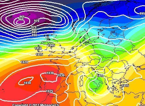 Previsioni Meteo : confermato l'ingresso della saccatura artica sull'Italia - Mappa GFS