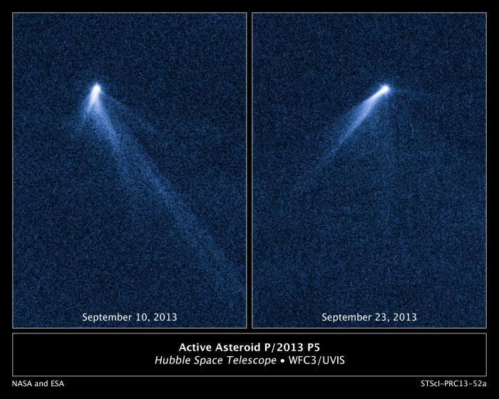 Incredibile: scoperto stranissimo asteroide con 6 code da cometa