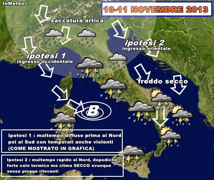 Previsioni Meteo : nuova ondata di maltempo in arrivo?