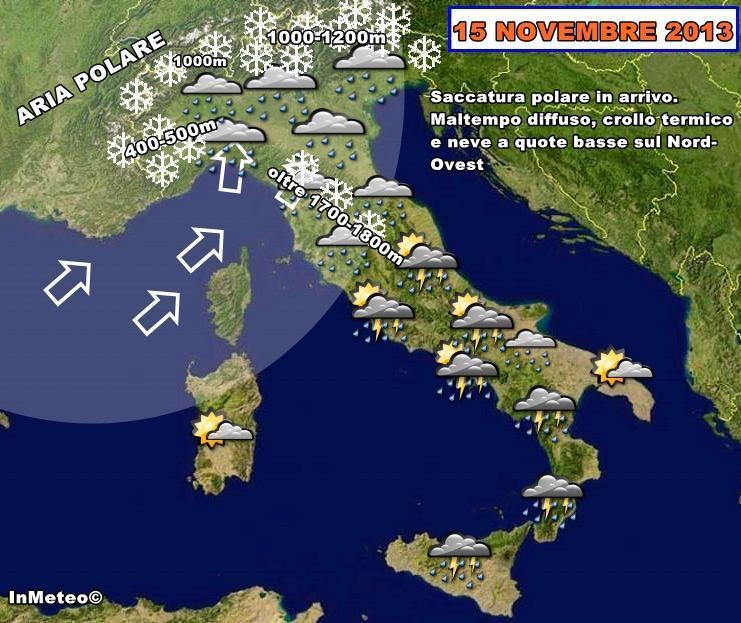 Aria polare in arrivo, neve a quote basse sul Piemonte