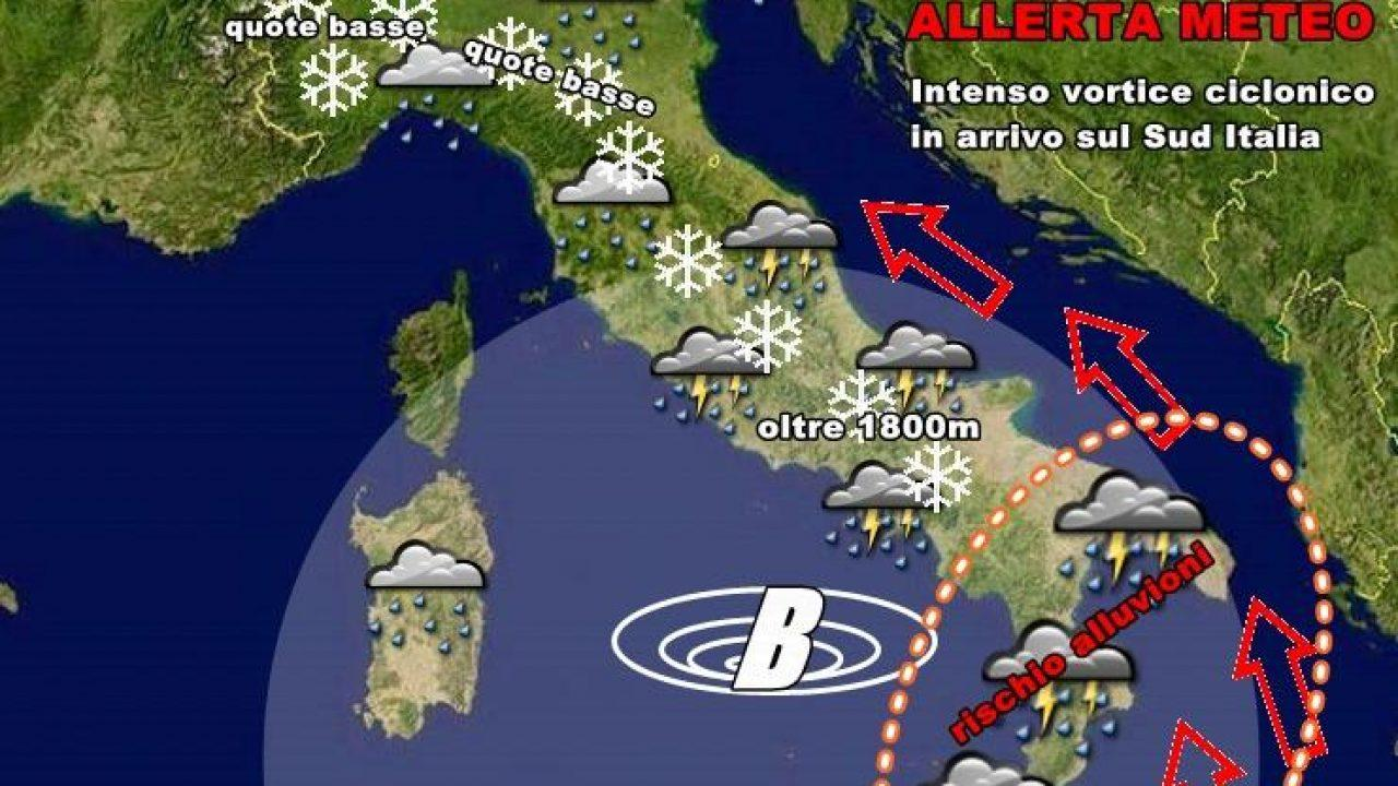 Meteo Cartina Italia.Allerta Meteo Violento Ciclone In Arrivo Sull Italia Rischio Alluvioni Su Diverse Regioni