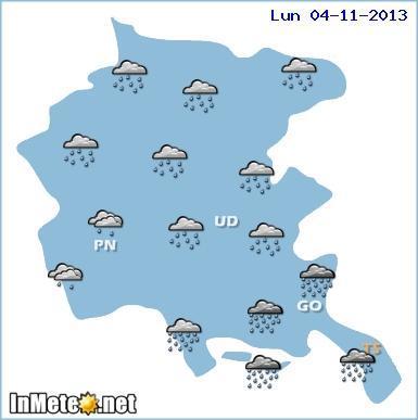 Friuli Venezia Giulia: forte maltempo in arrivo, probabili nubifragi lampo