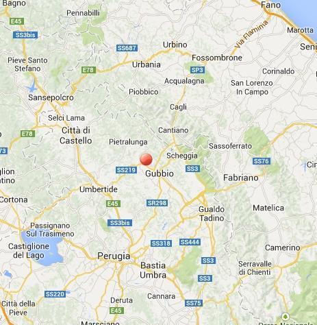 Terremoto Gubbio oggi: