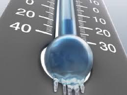 Calo esteso delle temperature in arrivo