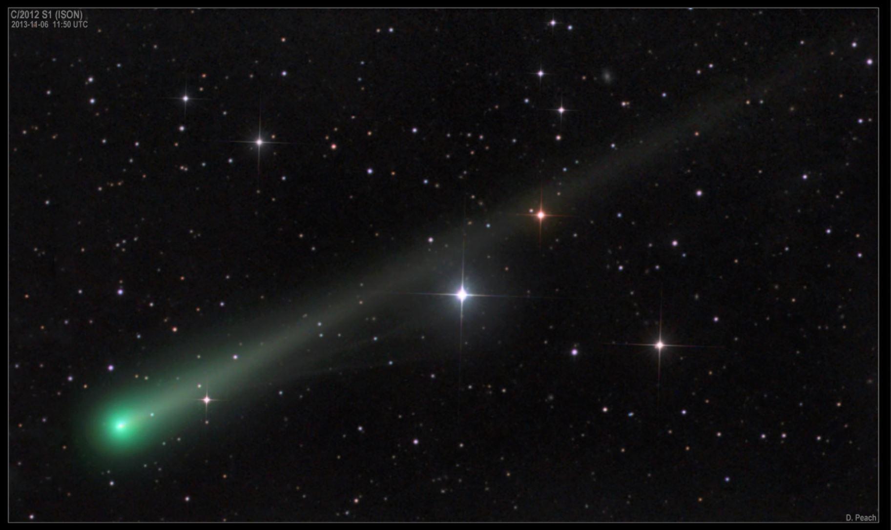 Cometa Ison: fotografia che immortala la cometa in buone condizioni di salute il 6 Novembre 2013