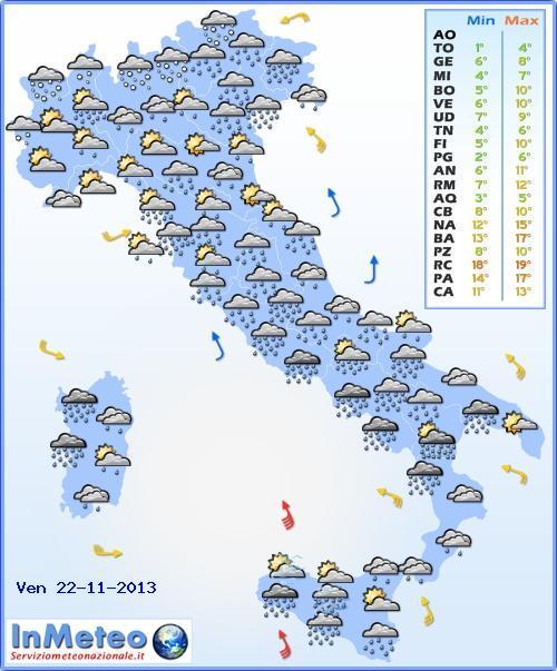 Allerta meteo Campania, Lazio, Toscana: nuovo intenso peggioramento in arrivo