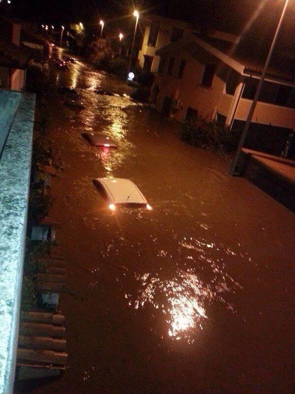 Meteo Olbia: le immagini serali della città devastata dal maltempo