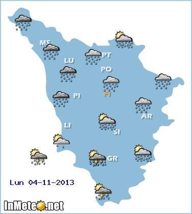 Allerta Meteo Toscana : forti temporali in arrivo