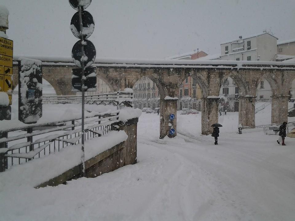 Neve Sulmona: circa 40 centimetri di manto nevoso!