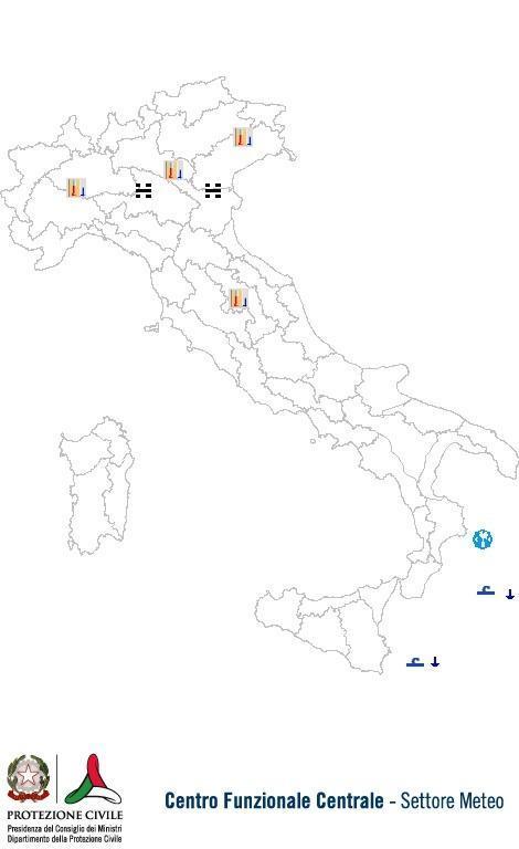 Previsioni meteo 17 Dicembre 2013 Italia: Bollettino della Protezione Civile. Fonte: www.protezionecivile.gov.it