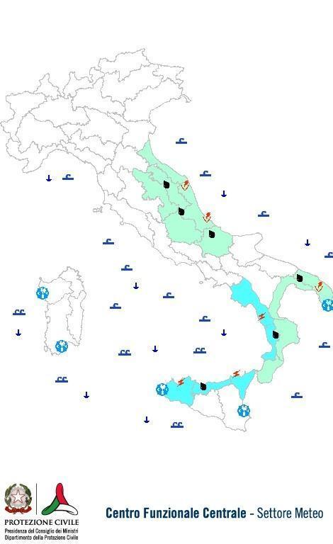 Previsioni meteo 27 Dicembre 2013 Italia: Bollettino della Protezione Civile. Fonte: www.protezionecivile.gov.it