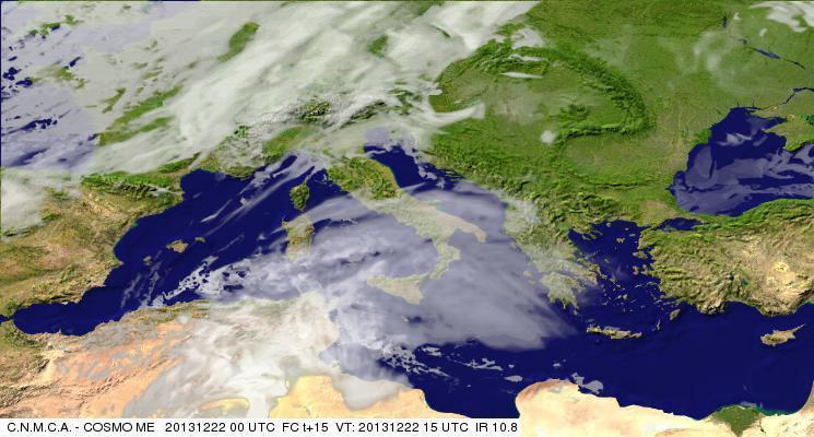 Previsioni Meteo Aeronautica Militare Domenica 22 Dicembre 2013. Fonte: meteoam.itder
