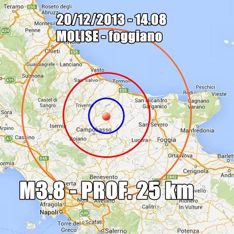 Terremoto Molise Puglia Oggi : scossa nettamente avvertita