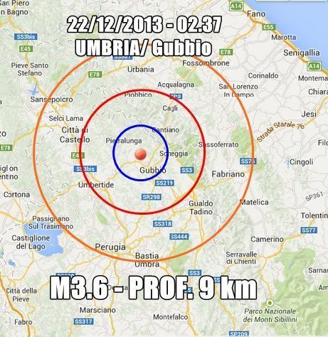 Terremoto Umbria Oggi : scossa ben avvertita a Gubbio e Perugia