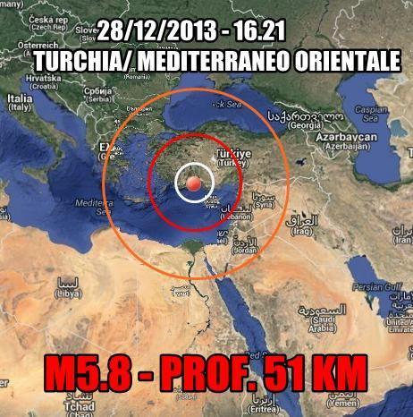 Terremoto Turchia Oggi : intensa scossa nel pomeriggio