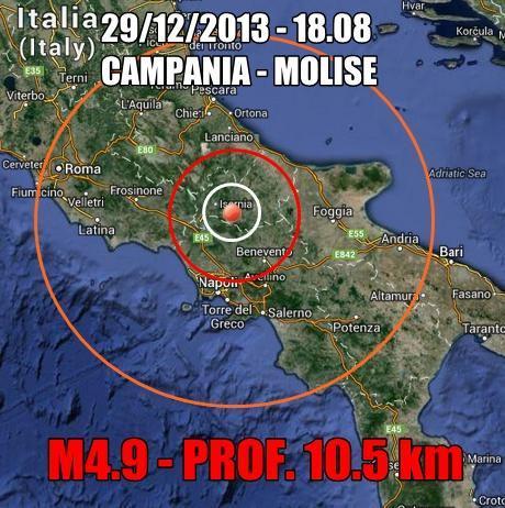 Terremoto Campania Oggi : forte scossa scuote il Centro-Sud
