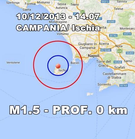 Terremoto Ischia Oggi : scossa lievissima avvertita nel pomeriggio