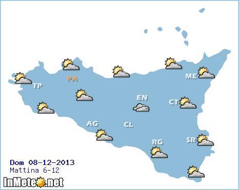 Meteo Sicilia: il tempo nel giorno dell'Immacolata