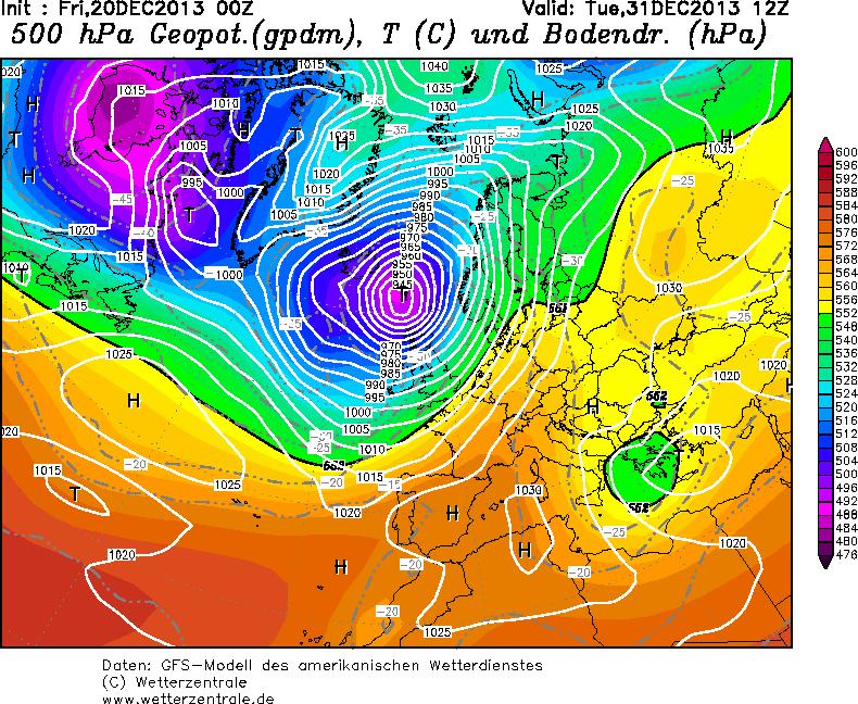 Possibile ritorno dell'alta pressione fra fine anno e 1 Gennaio