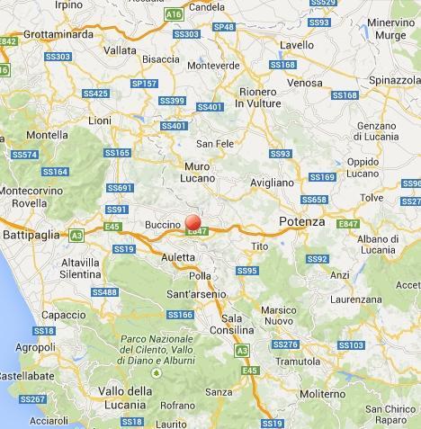Terremoto Campania, Basilicata oggi 7 Dicembre 2013