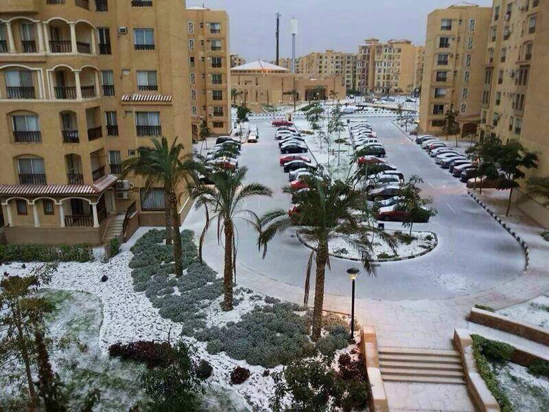 Neve storica a Il Cairo