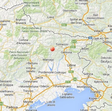 Terremoto oggi Friuli Venezia Giulia: scossa fra Maniago e Tolmezzo, provincia di Pordenone