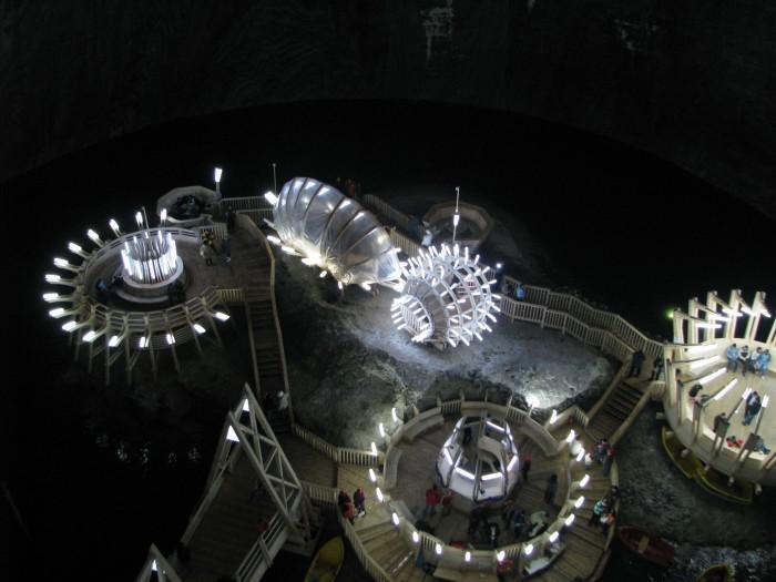 Una miniera di sale è oggi un museo a 120 metri di profondità