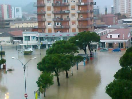 Allagamenti estesi a Pescara