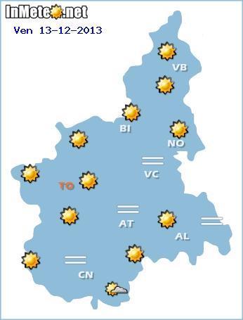 Meteo Piemonte 19 Dicembre e 20 Dicembre 2013