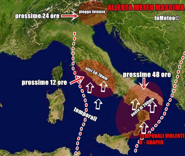 Allerta Meteo massima su Lazio, Roma e Sud Italia