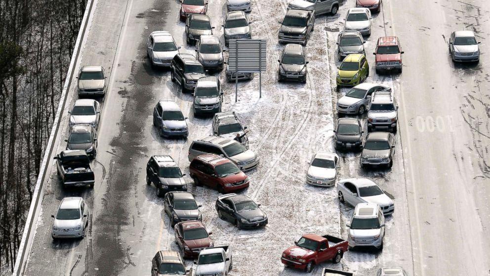 Traffico paralizzato in Georgia
