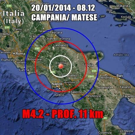 Terremoto Campania, Napoli oggi 20 Gennaio 2014