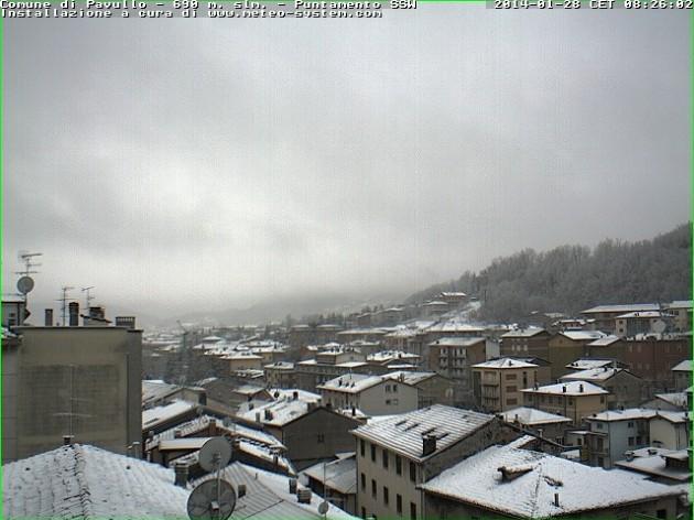 La neve in collina nel modenese