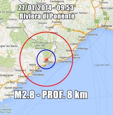 Terremoto fra Francia e Liguria di Ponente: avvertita fra Bordighera-Sanremo