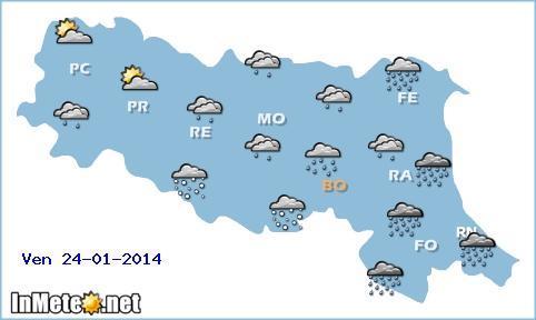 Emilia romagna in arrivo maltempo e nevicate sulla for Oggi in romagna