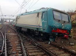 treno deragliato a Viterbo