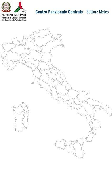 Previsioni meteo 25 Febbraio 2014 Italia: Bollettino della Protezione Civile. Fonte: www.protezionecivile.gov.it