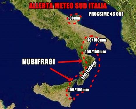 Allerta meteo al Sud, rischio dissesto sulla Calabria